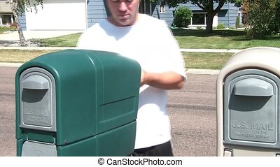 Man Celebrates Finding Money in Mail - Man opens up his...