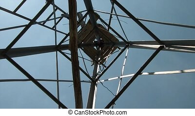 Looking Up Inside Windmill - Abstract of camera shot upward...