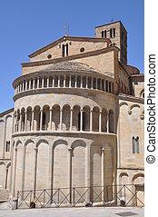 Arezzo Apse of Romanesque Santa Maria della Pieve Italy
