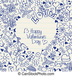 Valentines Day seamless card or wrapping paper
