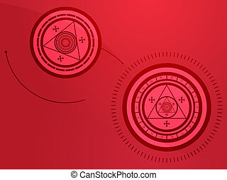 Occult symbols - Wierd arcane symbols that look strange and...