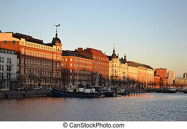 Embankment in Helsinki, Finland