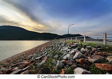 Evening at Dam - Evening at Pertak dam, Penang