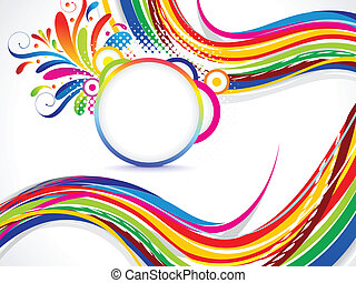 abstract colorful background with floral vector illustration...