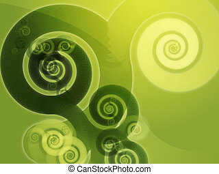 Abstract spiral swirls - Abstract swirly spiral grungy...