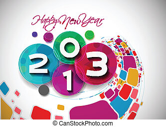 New Year 2013 - Happy new year 2013 celebration background...