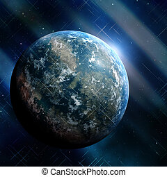 Earthlike planet - Generic earthlike planet in outerspace...