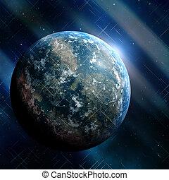 Earthlike planet - Generic earthlike planet in outerspace...