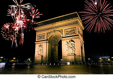 Arc de triumph is the one of the most famous monuments in...
