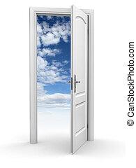 door to sky - freedom abstract