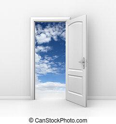 door to sky - heaven or freedom
