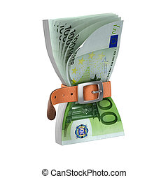 euro notes with tighten belt - euro notes with tighten belt...