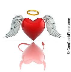angel heart seen as a devil heart - angel heart seen as a...