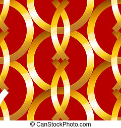 Seamless bold gold rings geometrics pattern - Bold and...