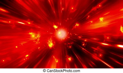 Flares Red Cosmic Looping Backdrop - Flares Red Cosmic...