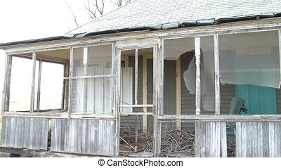 Neglected Front Porch - Front porch in state of disrepair...