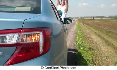 Man Stranded on Highway - Hazard Lights On