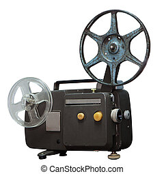 isolated: Vintage movie projector with clipping path