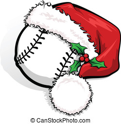 Baseball Santa Cap - Color vector illustration of a baseball...