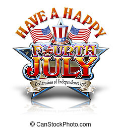 Fourth July Hat graphic - Have a happy Fourth July Star...