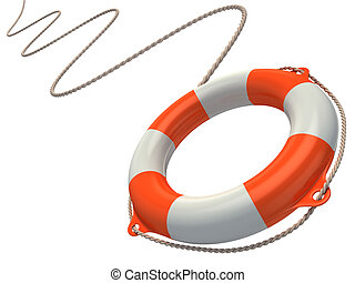 lifebuoy in the air   - lifebuoy in the air 3d illustration