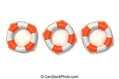 lifebuoy isolated - lifebuoy 3d illustration