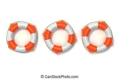 lifebuoy isolated - lifebuoy 3d illustration