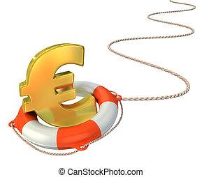 saving euro 3d concept
