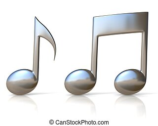metallic music note 3d icons - metallic music note 3d icons...