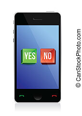yes and no buttons on phone