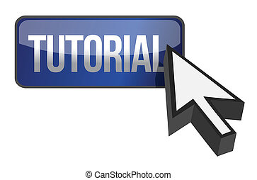 tutorial button illustration design over a white background