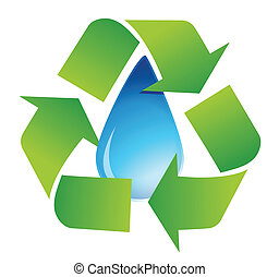 recycle water symbol illustration
