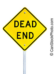 Dead End sign - Dead end street sign isolated on white...
