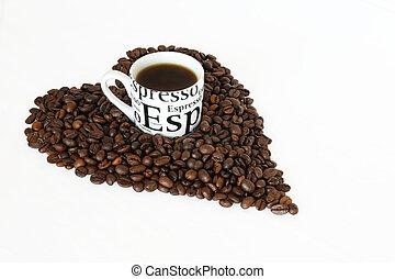 コーヒー,  expresso, 愛