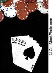 royal flush - A royal flush at poker