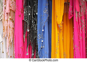 Muslim fashion - Traditional Islamic colorful dress with...