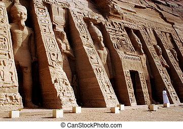 Abu Simbel Temples - ABU SIMBLE - APRIL 29:The Great Temple...
