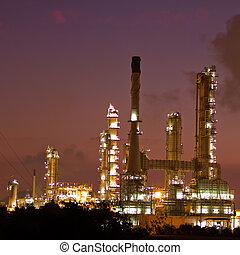 pianta, prodotto petrochimico, scenico, raffineria, olio,...