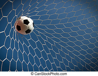 futbol, Pelota, meta, éxito, concepto