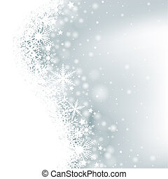 Winter Background - Christmas Illustration, Vector