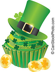 St Patricks Day Leprechaun Hat Cupcake - St Patricks Day...