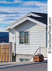 White Siding Icelandic House