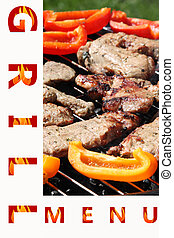 Sample grill menu , front page