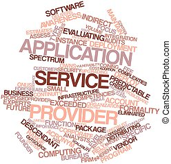 Word cloud for Application service provider - Abstract word...