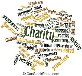 Charity - Abstract word cloud for Charity with related tags...