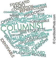 Columnist - Abstract word cloud for Columnist with related...