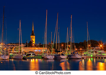 st olaf church, Tallinn - View of St Olaf's Church from...