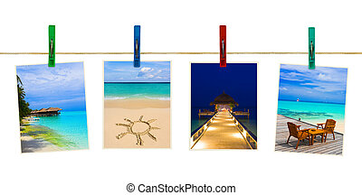 Nature photography on clothespins