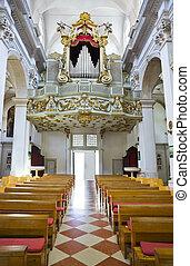 Organ in church at Dubrovnik, Croatia