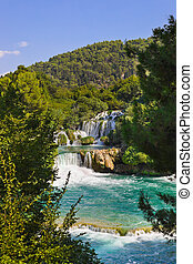 krka, Croácia, Cachoeira